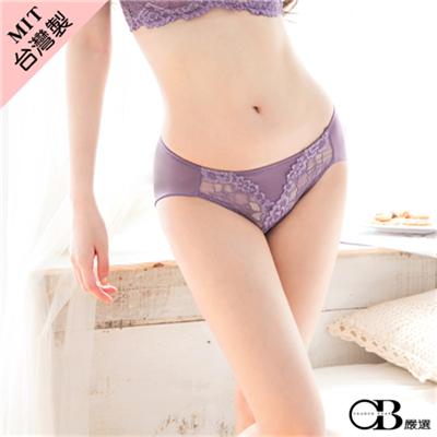 【最低出清!任選68】微醺紫系~V型鏤空蕾絲雕花內褲‧台灣製‧2色
