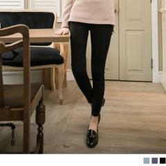 唯美綺麗~立體繡紋質感彈性面料長褲.3色