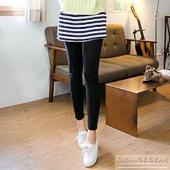 0705新品 清新品味~條紋抽褶小短裙假兩件內搭褲.2色