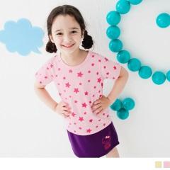 可愛活力~滿版大小星星燙印T恤‧童2色
