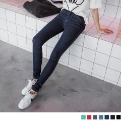 瘦型出色~顯瘦質感丹寧窄管褲‧7色