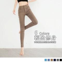 0619新品 輕軟定型~輕盈修身開釦窄管褲‧5色