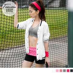前拉鍊透氣棉感挖背半截式運動背心/上衣(附襯墊.6色