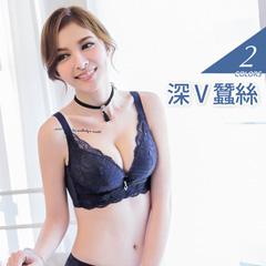 3/4罩玫瑰花紋水鑽蠶絲內衣‧2色(B-E)