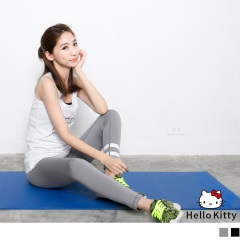 Kitty運動系列~線條彈力貼腿運動褲/瑜伽褲.2色