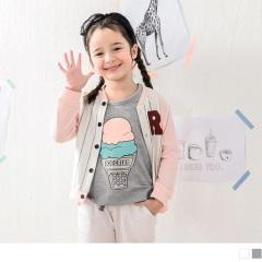 【週年慶♥童裝殺99】冰淇淋圓領短袖上衣‧童2色