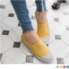 多彩帆布休閒樂福鞋.5色