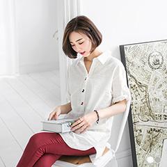 【春夏斷碼♥2件55折】長頸鹿繡花開襟長版寬鬆上衣.2色