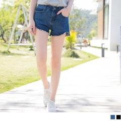 0616新品 微挺美型褲管切口牛仔短褲‧2色