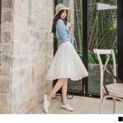 0811新品 刺繡花朵蕾絲紗裙x背心洋裝.2色