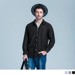 織帶配色造型長袖襯衫‧3色
