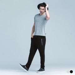 0609新品 拉鍊造型彈性休閒運動長褲‧男2色