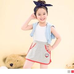 【週年慶♥童裝殺99】運動風撞色滾邊側拼接小短裙‧童2色