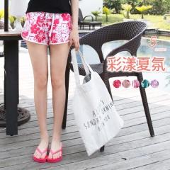 0614新品 繽紛印花舒適快乾熱浪海灘短褲‧5色