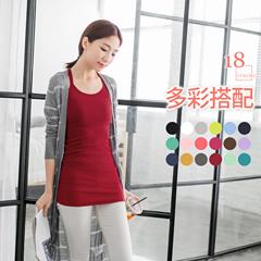 0414新品 背後Y字羅紋棉感素色背心.18色