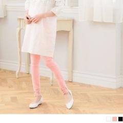 褲管蕾絲拼接設計修身孕婦褲‧3色