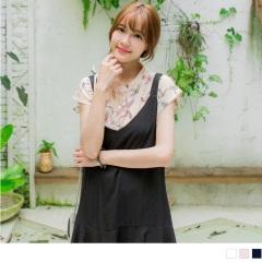 0714新品 燕子/貓咪/寶石印花落肩無領雪紡襯衫.3色