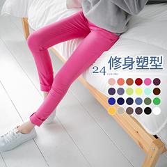 0620新品 修身塑型~嚴選超彈力多色顯瘦窄管褲.24色