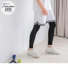 台灣品質.世界同步~車縫貼腿彈力運動內搭褲.3色