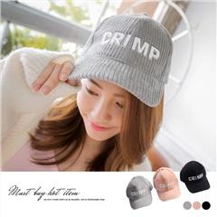 0317新品 【特價款】 英文燙印素色條絨棒球帽.3色