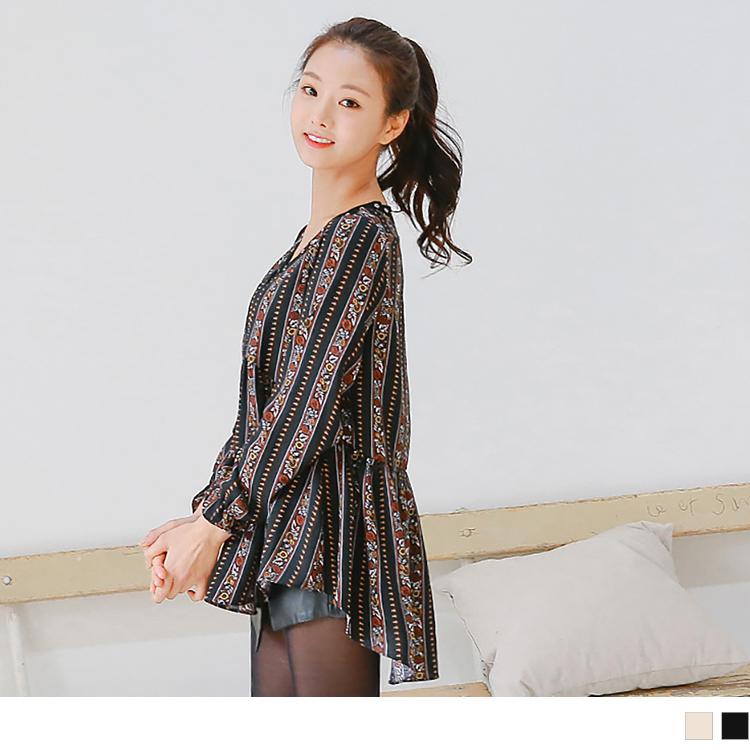 【秋新品】條紋短裙假兩件內搭褲