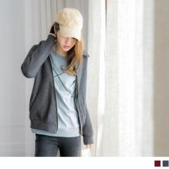 造型感斜拉鍊剪裁內刷毛連帽外套.2色