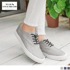 台灣製造~混色織紋簡約百搭帆布鞋.3色