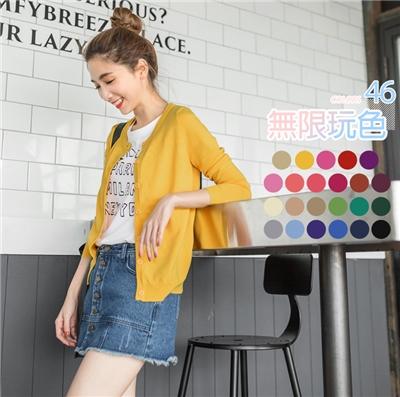 0418新品 無限玩色~大人氣圓/V針織外套.各22色