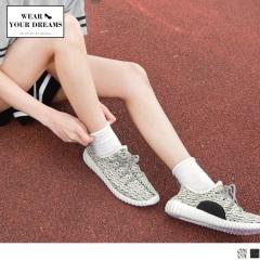 斑馬混色輕量彈力休閒運動鞋‧女2色