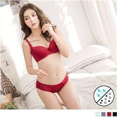 0615新品 3/4罩嚴選透氣素面休閒內衣套組‧4色(B-E)