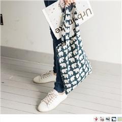 0725新品 俏麗多彩童趣印花造型帆布袋.5色