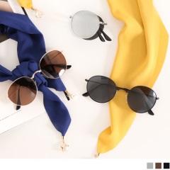 0329新品 【特價款】摺疊式鏡面細框太陽眼鏡.3色