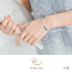 0406新品 【特價款】質感麻花編織造型金屬手環.2色