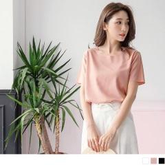 0614新品 純色簡約風格圓領上衣.3色