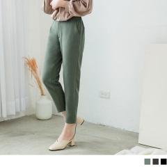 0705新品 素色質感腰鬆緊哈倫長褲.3色