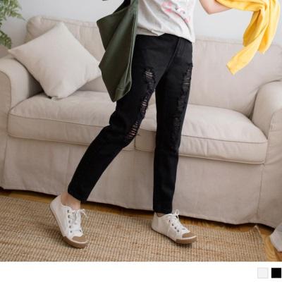 0612新品 刷破造型寬鬆牛仔男友褲.2色