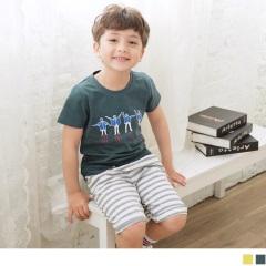 【週年慶♥童裝殺99】HOLA字母小人物印花短袖圓領上衣‧童2色