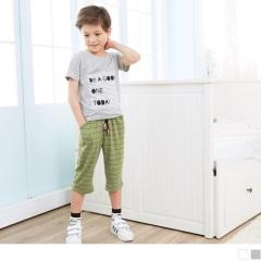 【週年慶♥童裝殺99】條紋拼布字母棉質圓領短袖上衣‧童2色