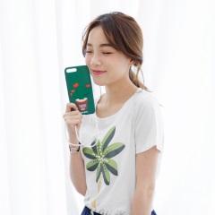 0427新品 附掛繩愛心仙人掌盆栽iPhone霧感手機矽膠套