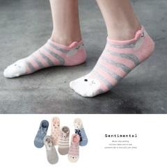 0725新品【特價款】 療癒動物X立體絨毛耳朵船型襪.6色(任選3入198)