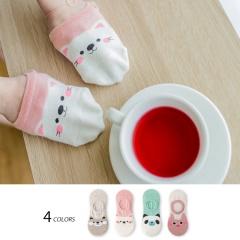 0724新品【特價款】粉嫩色系療癒動物臉部隱形襪.4色(任選3入198)