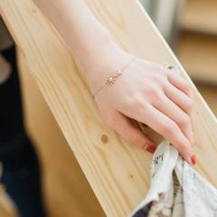 0525新品 【特價款】撞色金屬線條太陽花手鍊