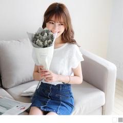 0525新品 素色浪漫蕾絲緹花造型連袖上衣.2色