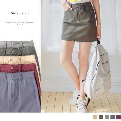 0612新品 顯瘦拼接剪裁多色素面仿舊水洗高棉量包裙.5色