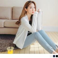 台灣製造.柔軟彈性面料立領造型雙口袋外套.3色