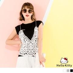 HELLO KITTY~圖騰印花高含棉圓領上衣.3色