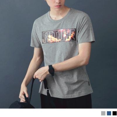 【酷夏黑白T♥任選69折】太空字母印花圓領短袖上衣.3色