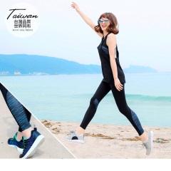 台灣品質.世界同布-光感半弧流線型彈性運動長褲.1色