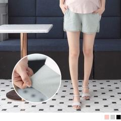 【百搭單品♥現折50】質感緹花邊舒適輕薄孕婦短褲‧3色