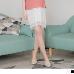 0626新品 質感睫毛蕾絲孕婦短裙.2色